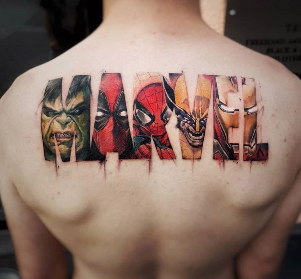 ลายสัก ลายสักบนร่างกาย ลายสัก Marvel